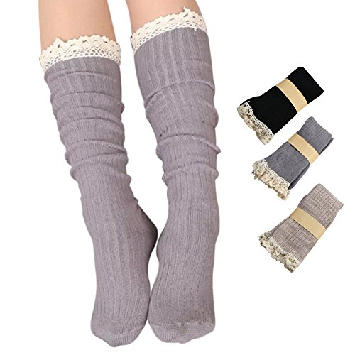 Roniky Women Cotton Crochet Stockings