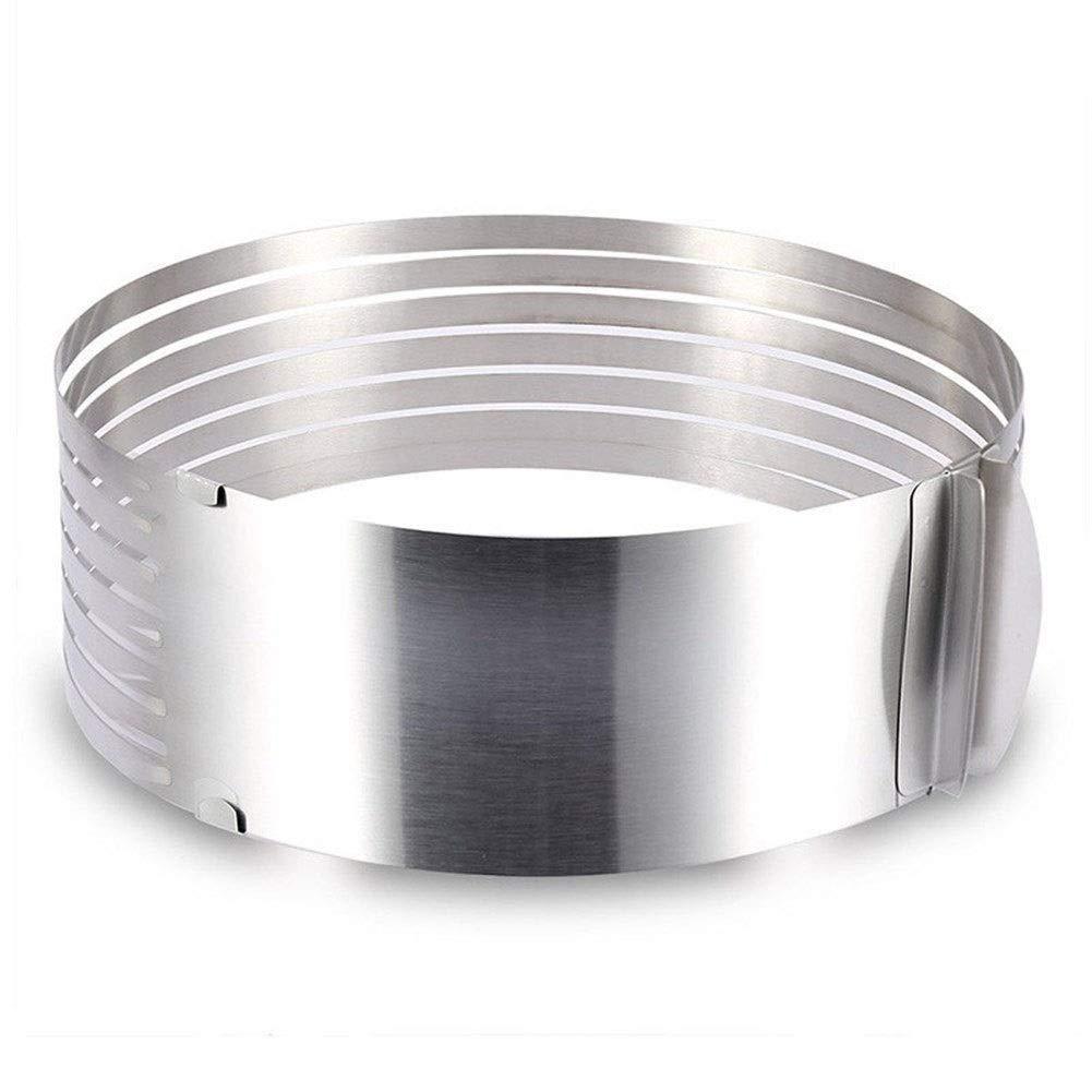 Size Optional 6-12 Inch Layered Slice Retractable Mousse Circle Cake Ring Activity Cake Mold Baking Utensils (Size : Large 9-12 inch)