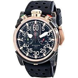 CT Scuderia Men's CS10103 Analog Ronda Swiss Made Black Silicon Watch