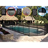 WaterWarden NE180F 4-Feet by 12-Feet Safety Fence for In-Ground Pools