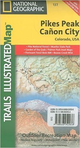 Pikes Peak Canon City Colorado Usa National Geographic Maps