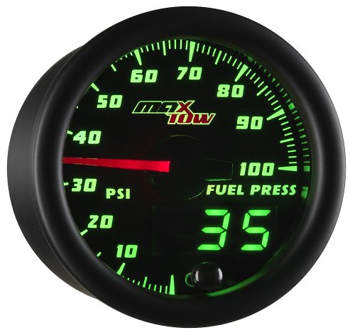 Black & Green MaxTow 100 PSI Fuel Pressure Gauge (Digital Fuel Gauge)
