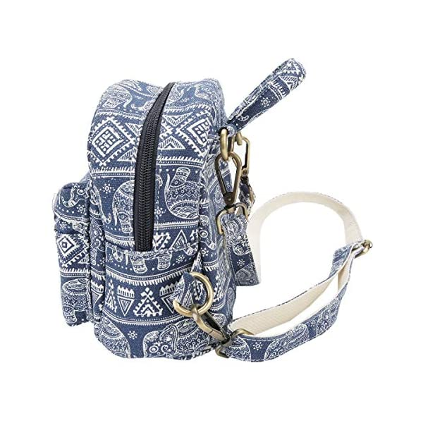 Mini-Backpack-Purse-Women-Elephant-Casual-Backpack-Canvas-Small-Shoulder-Bag-for-Daily-Work-School-Travel