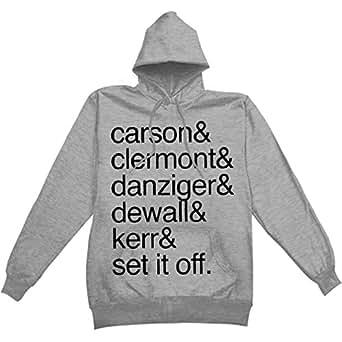 Set It Off Men's Names Hooded Sweatshirt Medium Grey