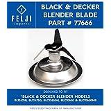 Felji Blender Blade Cutter Replacement with Gasket for Black & Decker Part # 77666