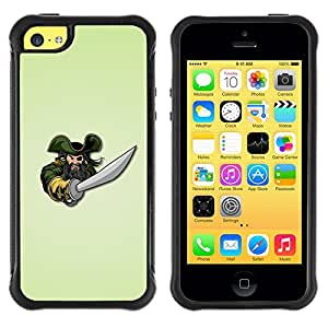 Suave TPU Caso Carcasa de Caucho Funda para Apple Iphone 5C / Pirate & Sword / STRONG