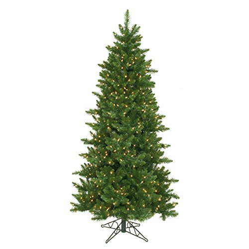 Northlight Pre-Lit Eastern Pine Slim Artificial Christmas Tree with Clear Lights, (Branch 96 Bulb)