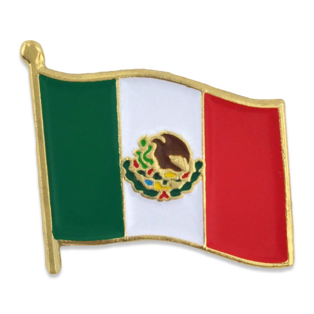 PinMart's Mexico Mexican World Flag Enamel Lapel Pin 3/4''