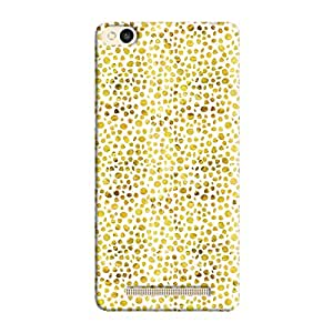 Cover It Up - Gold White Pebbles Mosaic Redmi 3s Hard Case