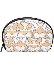 ALAZA Corgi Dog Butt Half Moon Cosmetic Makeup Toiletry Bag Pouch Travel Handy Purse Organizer Bag for Women Girls