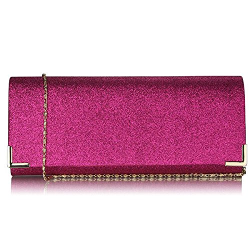 Fuschia Bags Women Glitter Prom Uk Xardi Bridal Purse Party Designer Evening London Ladies New Clutch B6gxwTnAq