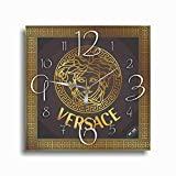 Art time production Versace 11'' Handmade Wall Clock - Get Unique décor for Home or Office – Best Gift Ideas for Kids, Friends, Parents and Your Soul Mates.