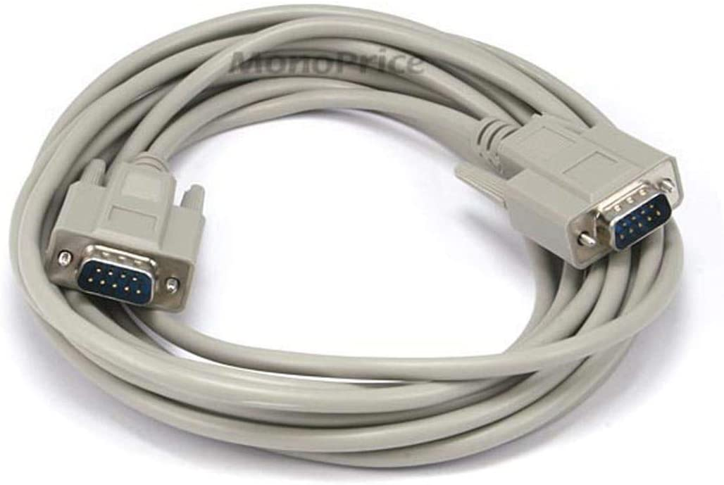 Monoprice 6ft DB 9 M//M Molded Cable