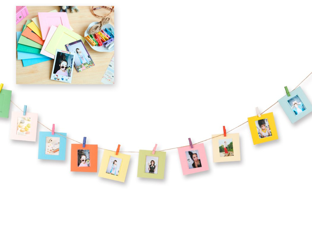 Shopready 10 Pieces Creative Wall Decor Hanging Film Frame, Paper Photo Frame Set for Fujifilm Instax Mini 8 7S 90 25 50S Films
