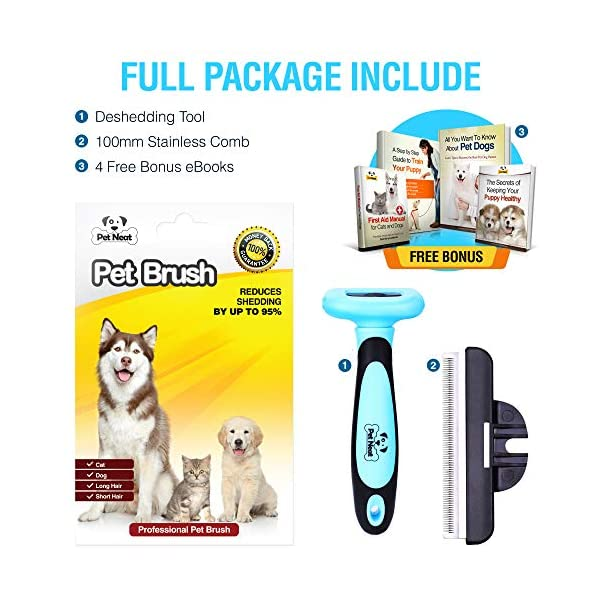 Pet Grooming Brush Effectively Reduces Shedding Byup to 95% Professional Deshedding Tool for Dogs & Cats 7