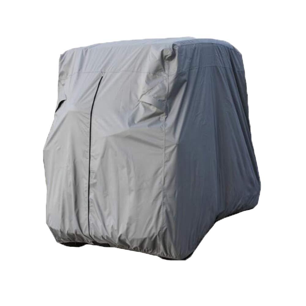 Comily Plus+ 4 Passenger 210D 防水防塵ゴルフカートカバー 最大80インチまで対応 ルーフシルバーカラー   B07JC1QLQK