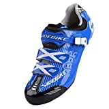 Smartodoors Women's Men's All-Road and MTB II Cycling Shoes(Blue for Road, US8/EU41/Ft26cm)