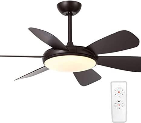 Amazon Com Ceiling Fan With Light And Remote Control 52 Inch Low Profile Ceiling Fans Light Fixture With 3 Color Temperature And Timer Set Flush Mount Ceiling Light 6 Reversible Blades For Bedroom