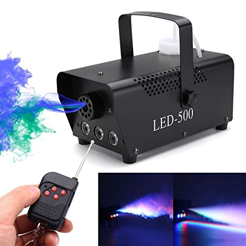 hossen LED Air Column Stage Smoke Machine with Multi Colour 110-230V Remote Control ()