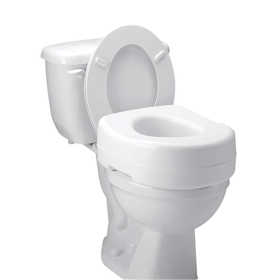 Carex Toilet Seat Riser - Adds 5.5 Inches of Height to Toilet - Raised Toilet Seat with 300 Pound Weight Capacity - Slip-Resistant