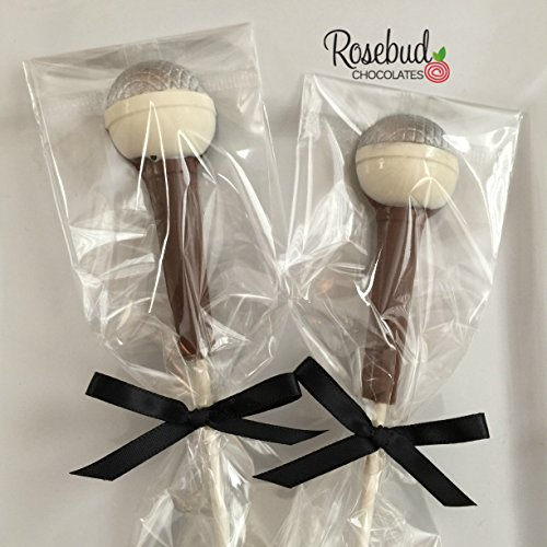 12 Milk Chocolate MICROPHONE Lollipop Candy Party Favors