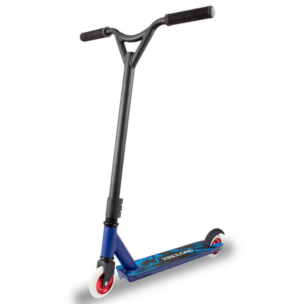 HLH-Fitness Equipment Durable Adult Scooter Fancy 2 Rounds Extreme Stunt Adult Pedals Scooter Non-Slip (Color : Blue) by HLH-Fitness Equipment