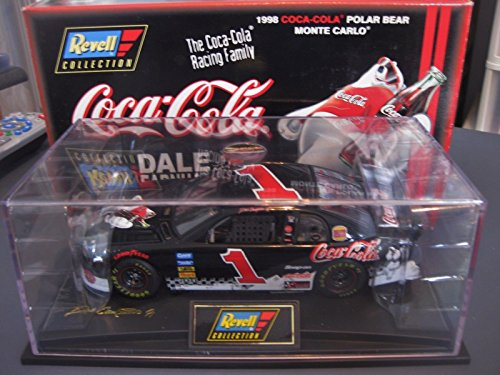 1998 Revell Collection Dale Earnhardt Jr #1 Black Coca Cola Polar Bear Chevy Monte Carlo 1st Head to Head Race With Dale Sr Motegi Japan Limited Edition 1/24 Scale Hood Opens Trunk Opens ()