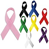 PinMart's Bulk Cloth Awareness Ribbon Pink - 25 Pack w/ Safety Pins