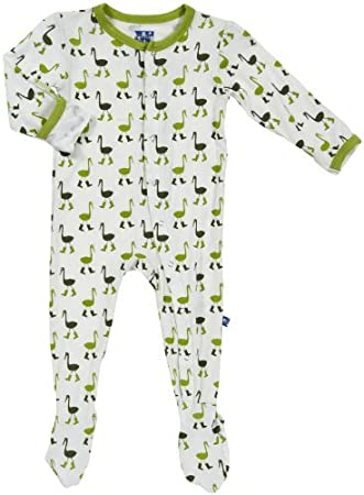 Amazon.com: kickee pants Baby Boys Imprimir Footie (bebé ...