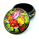 Once you take this ethnic art item to your hands, you wouldn't want to give it away!    This unique hand painted jewelry box comes to you from the heart of Europe - Central Ukraine. It is professionally painted in an original Ukrainian mann...
