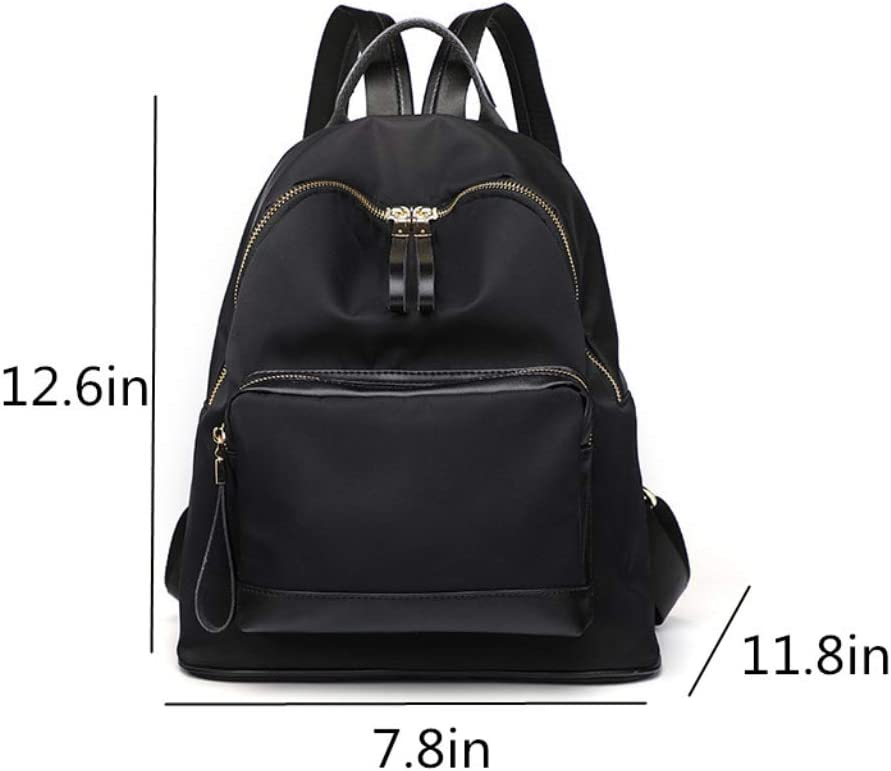 ZYqi Double Shoulder Bag Korean Version of The Multi-Function Wild Waterproof Oxford Cloth Leisure Travel Backpack Book Color : Black