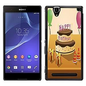 "Dragon Case - FOR Sony Xperia T2 Ultra - ""Man proposes - Caja protectora de pl??stico duro de la cubierta Dise?¡Ào Slim Fit"