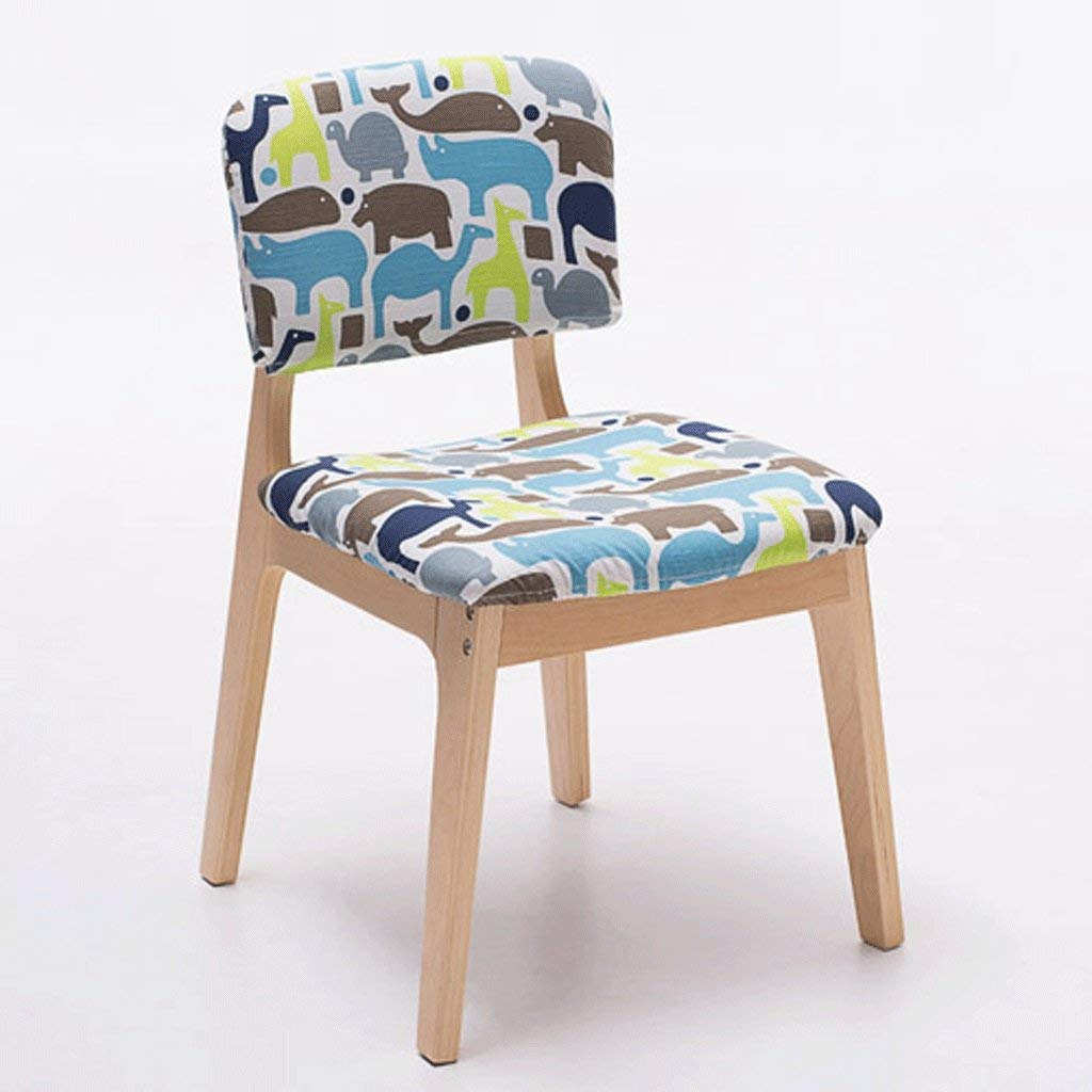 B DYR Solid Wood Dining Chair Creative Wooden Chair Fashionable Chair (color  F)