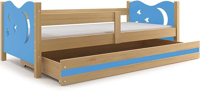 Cama para niños, nicolás 160 X 80 (Azul), Cama individual con ...