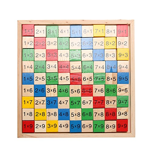 Math Dominoes Double Side Domino Wooden Educational Toy For Children Colorful Dominoes, Provides Kids With A Strong Visual Sense.
