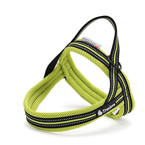 PENTAQ Dog Harness Night Reflective Stripes Adjustable Pet dog Easy Sport No-Pull Harness Pet Vest with Handle…
