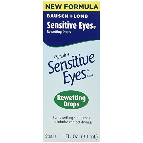 Lens Rewetting Drops (Bausch & Lomb Sensitive Eyes Rewetting Drops 1 oz)