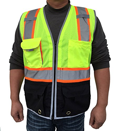 3C-Products-Deluxe-ANSI-Class-2-Surveyor-Safety-Vest-w-Black-Bottom-Reflective-Trim