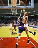 Scottie Pippen Signed Autographed Bulls 16x20 Photo Dunking over Ewing