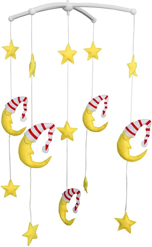 Amazon Com Baby Crib Mobile Nursery Clouds Moons Stars Decoration Kids Room Wall Decor Ceiling Hanging Toys Unique Gifts Baby