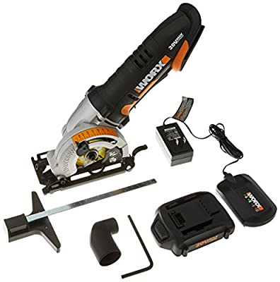 "WORX WX523L 20V 3-3/8"" Max Lithium-Ion 85mm Plunge Circular Saw"