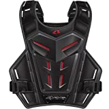 EVS Revolution 4 Youth Roost Guard Off-Road/Dirt Bike Motorcycle Body Armor - Grey/Red / One Size