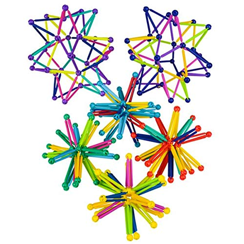 The Toy Network Collapsible / Expandable Balls Set of 3 ~ Star Shaped & Great Colors ~ Hand Catch Flower Balls