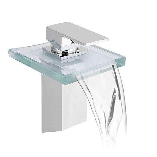 Glas Wasserfall Wasserhahn Waschtisch Armatur Waschbecken Badezimmer Kuche Bad
