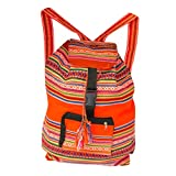 Handmade Lightweight, Water Resistant Washable Unisex Day Bag with Extra Storage Pockets for -Gym, Travel, Beach, Backpack, School, Hiking, Carry-on Luggage (ORANGE)