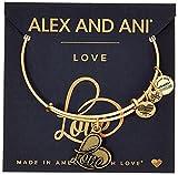 #5: Alex and Ani Love IV Rafaelian Gold Charm Bracelet