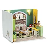 OHQ Friends&Me DollHouse Lovely Sitting Room, with Store Content Ark Potted Sofa Hold Pillow Coffee Machine Stool Photo Frame, Creative Birthday