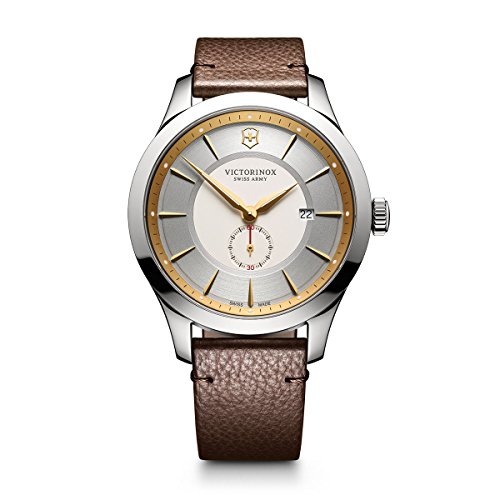 - Victorinox Men's Alliance Stainless Steel Swiss-Quartz Watch with Leather Strap, Black, 21 (Model: 241767)