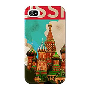 USSR Full Wrap High Quality 3D Printed Case for iPhone 4 / 4s by Nick Greenaway + FREE Crystal Clear Screen Protector