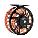 Fiblink Saltwater Fly Fishing Reel with Large Arbor 2+1 BB, CNC machined Aluminum Alloy Body and Spool (5/6 Wt, Orange)